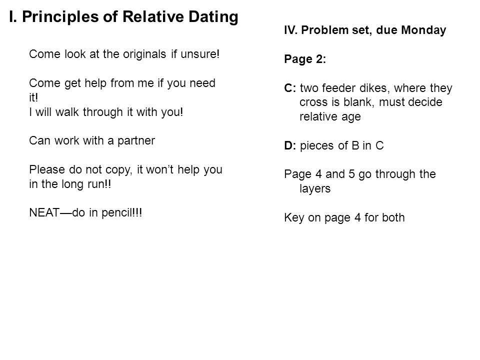 radiometric dating problem set 4