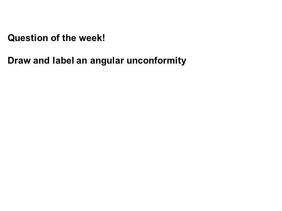Question of the week! Draw and label an angular unconformity