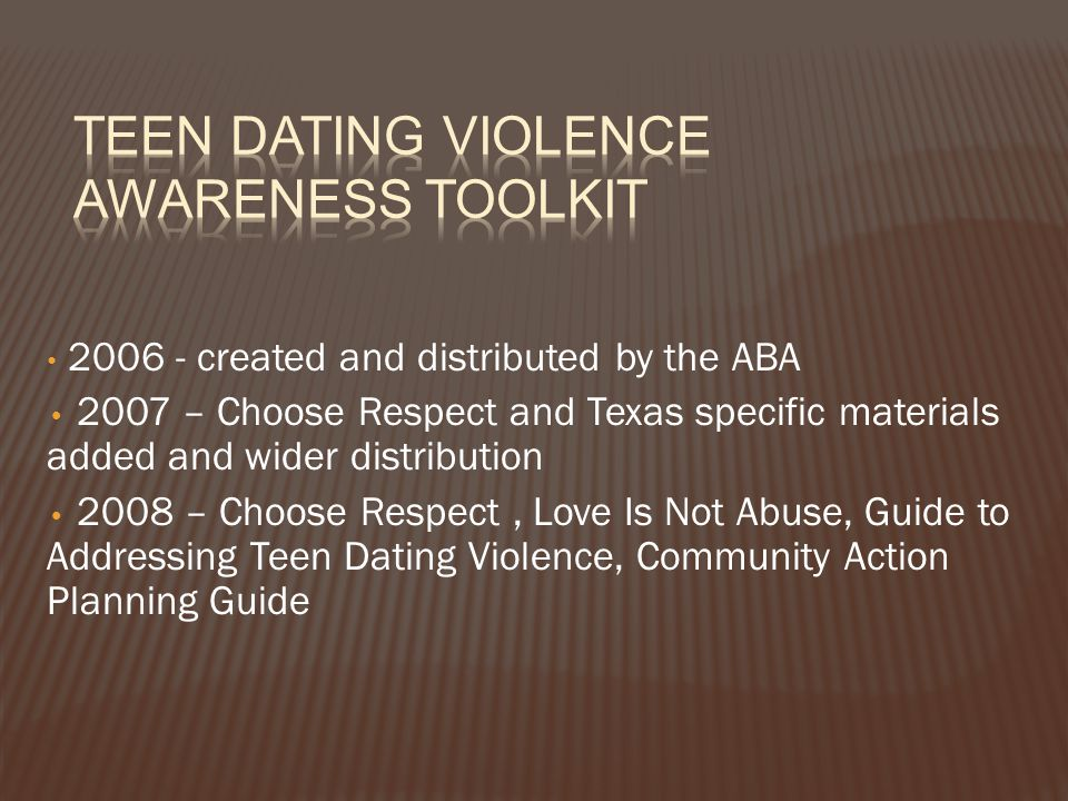 Teen Dating Violence Awareness Toolkit