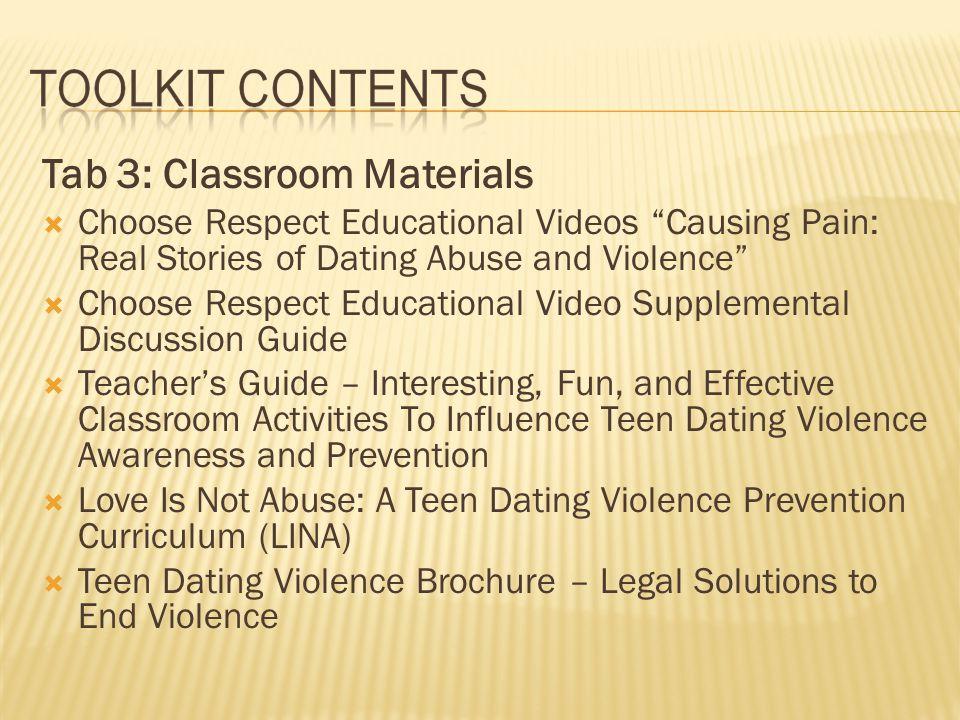 Tab 3: Classroom Materials