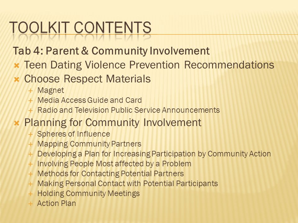 Tab 4: Parent & Community Involvement