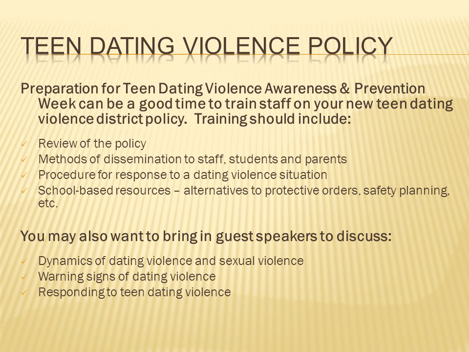 Teen Dating Violence Policy