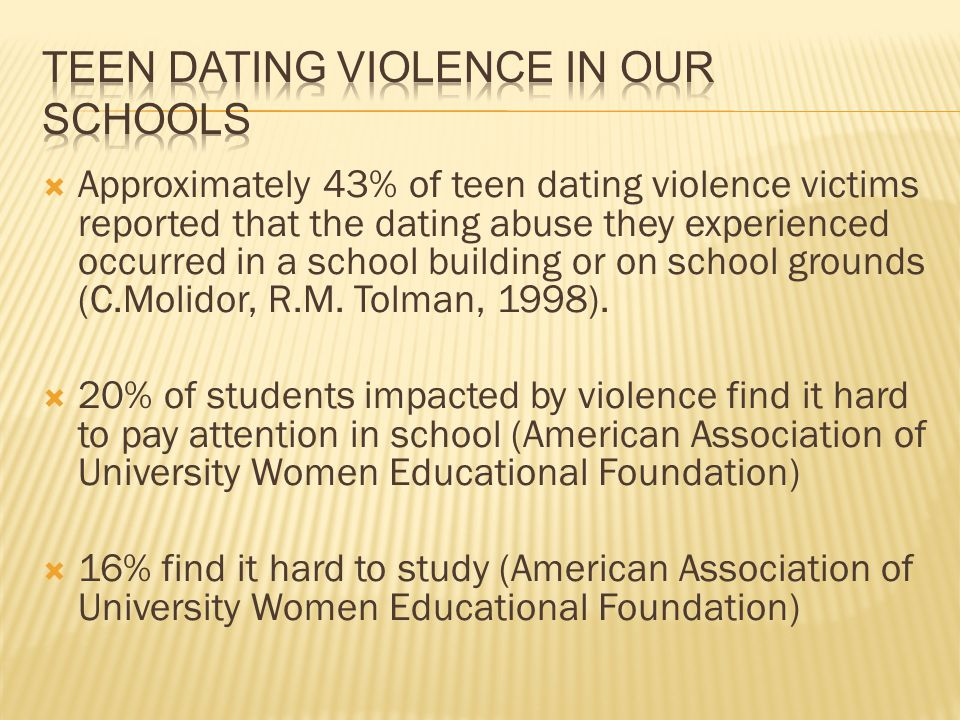 Teen Dating Violence in our Schools