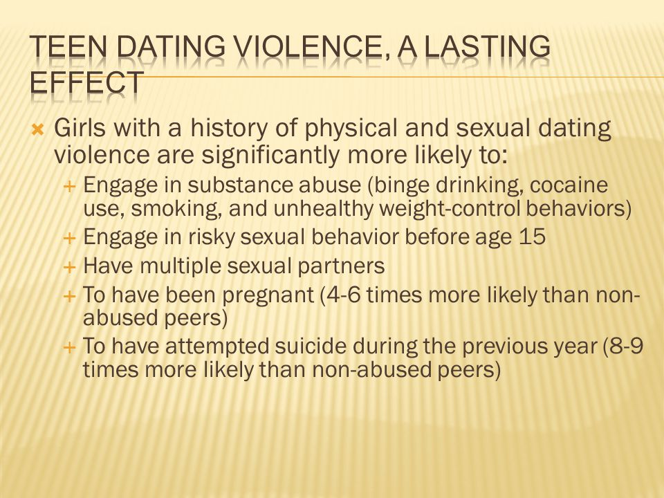 Teen Dating Violence, A lasting effect