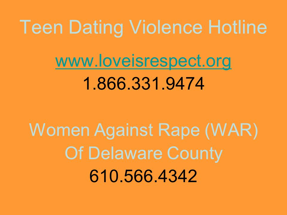 Teen Dating Violence Hotline