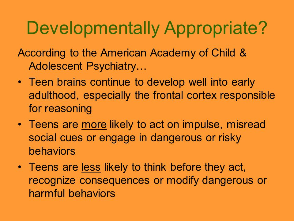 Developmentally Appropriate