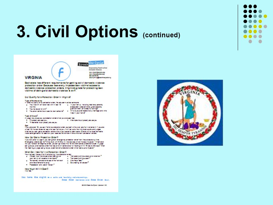 3. Civil Options (continued)