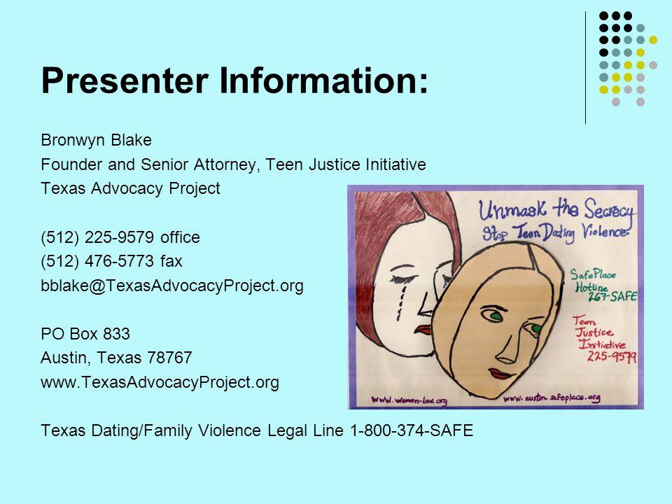 Presenter Information:
