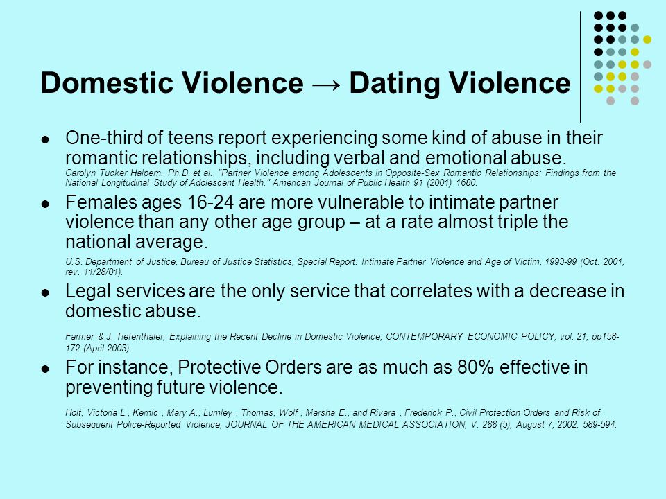 Domestic Violence → Dating Violence