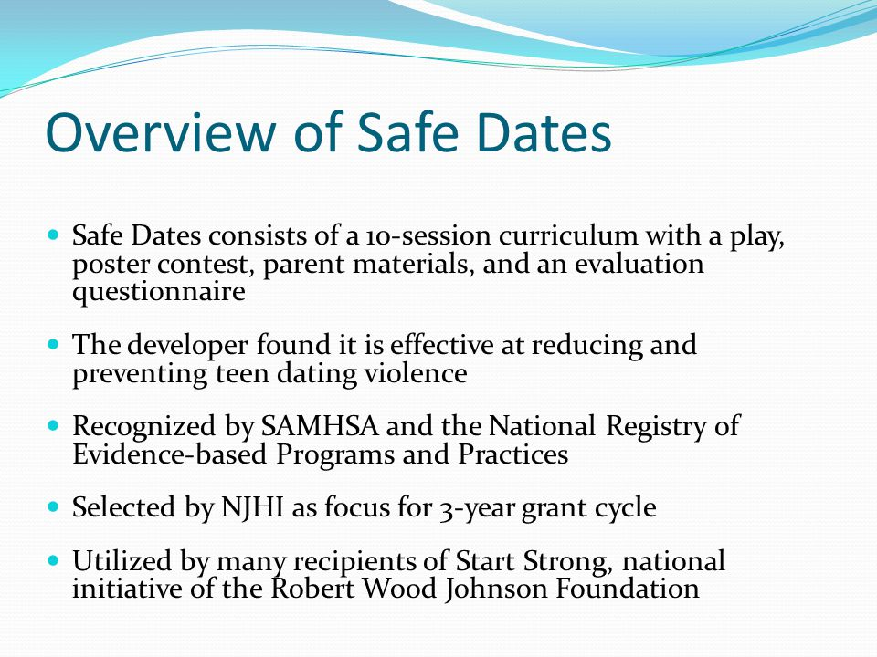 Overview of Safe Dates