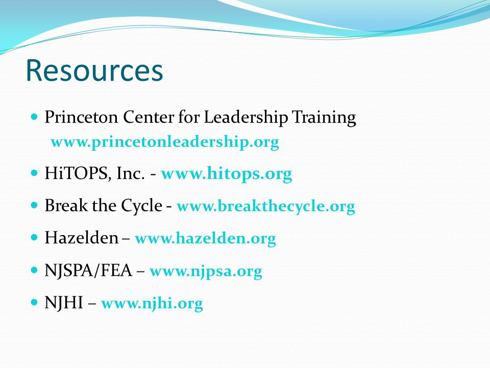Resources Princeton Center for Leadership Training