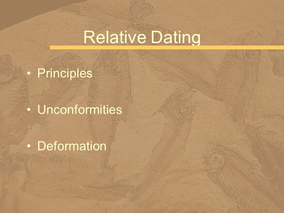 Relative Dating Principles Unconformities Deformation