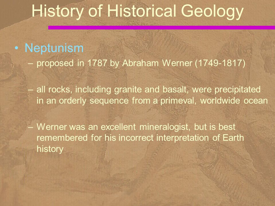 History of Historical Geology