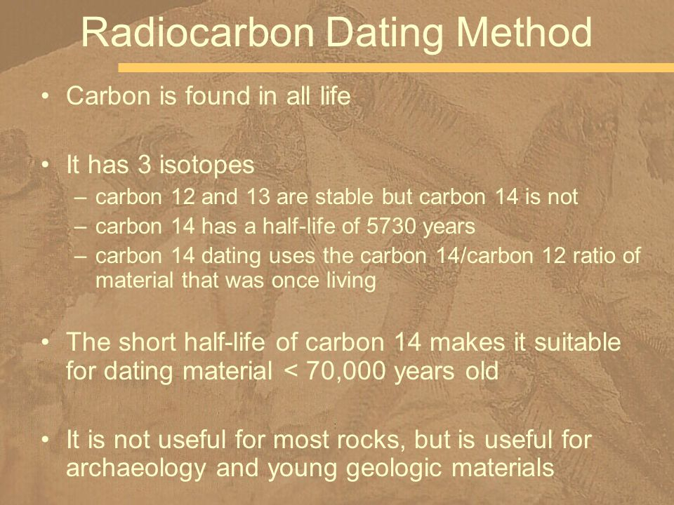 Advantages of carbon dating method
