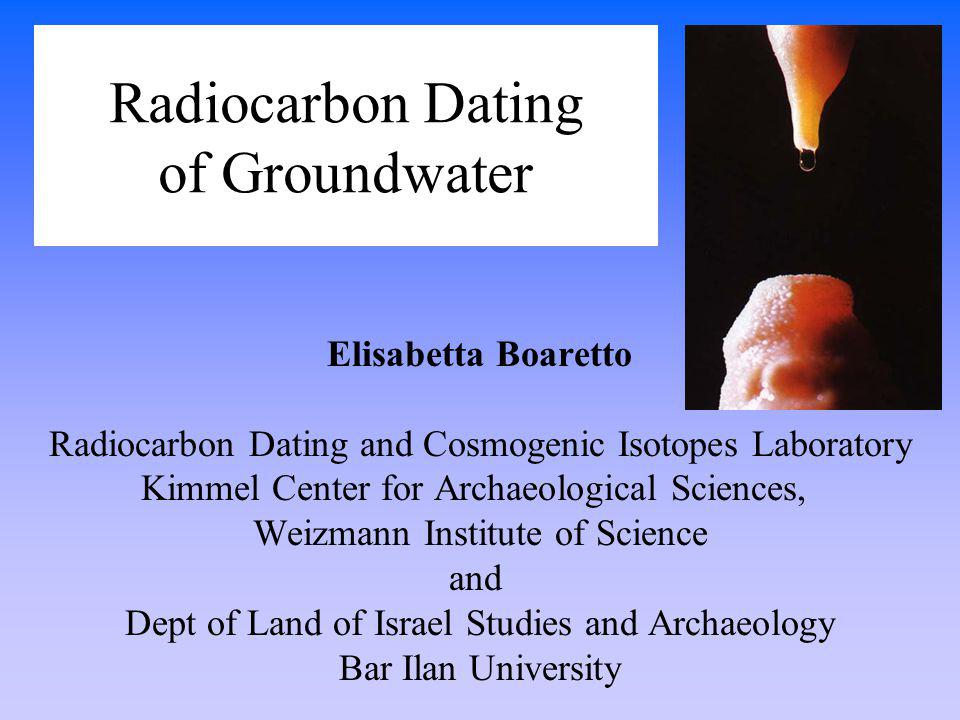 radiocarbon dating groundwater