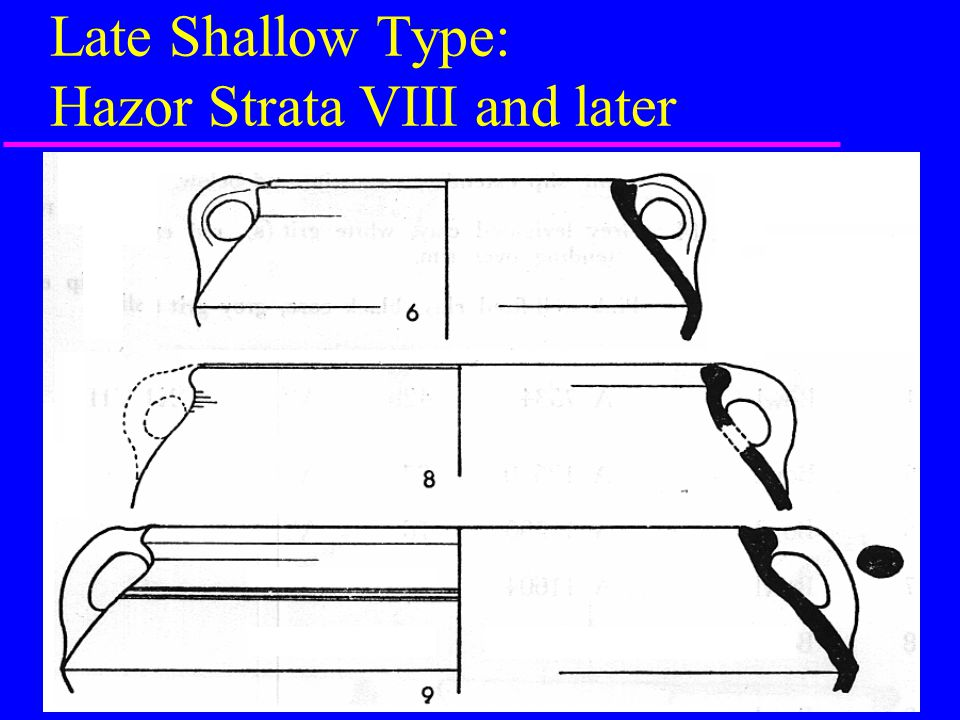 Late Shallow Type: Hazor Strata VIII and later