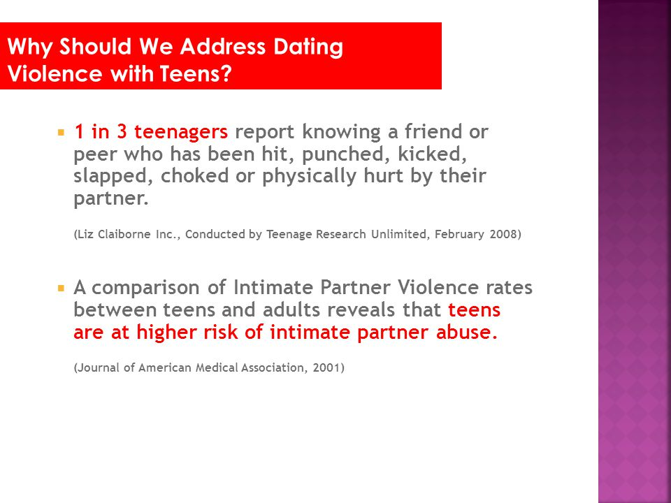 Why Should We Address Dating Violence with Teens