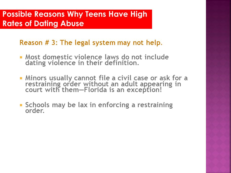 Possible Reasons Why Teens Have High Rates of Dating Abuse