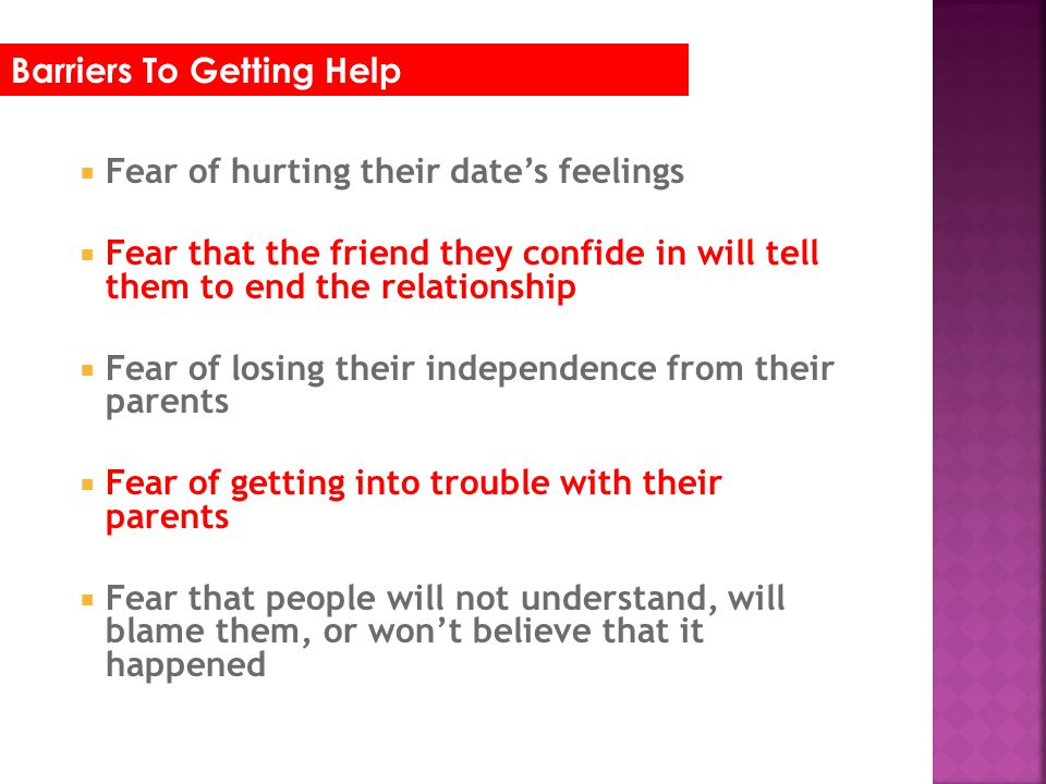 Barriers To Getting Help