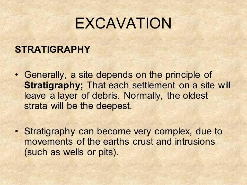 EXCAVATION STRATIGRAPHY