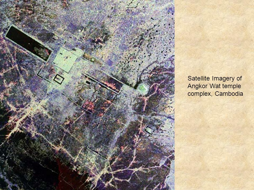 Satellite Imagery of Angkor Wat temple complex, Cambodia