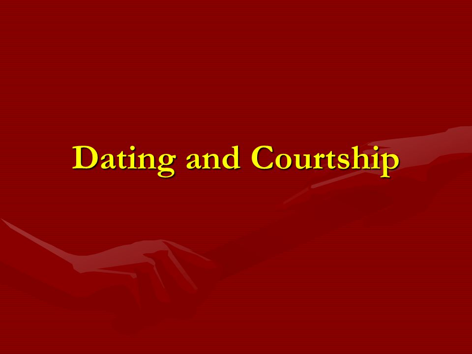 Similarities between dating and courting