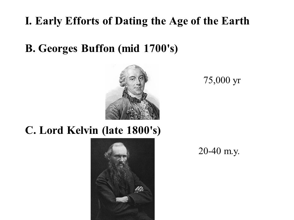 I. Early Efforts of Dating the Age of the Earth