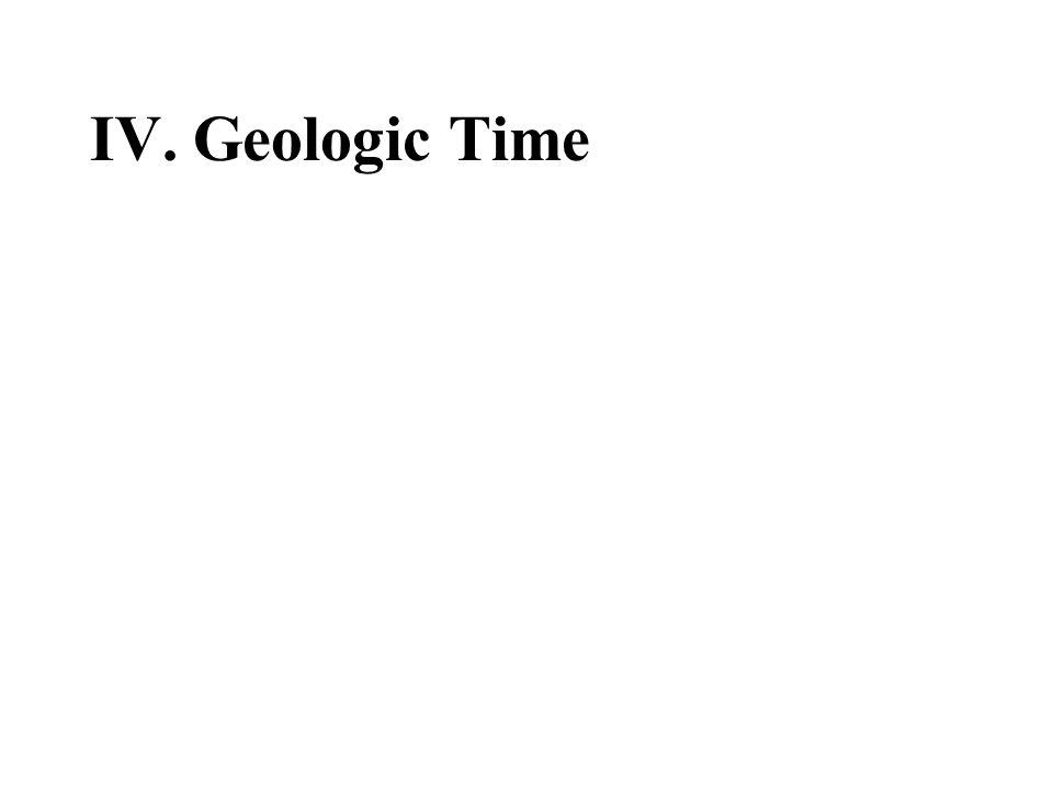 IV. Geologic Time