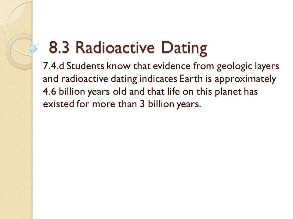 radioactive dating of earth
