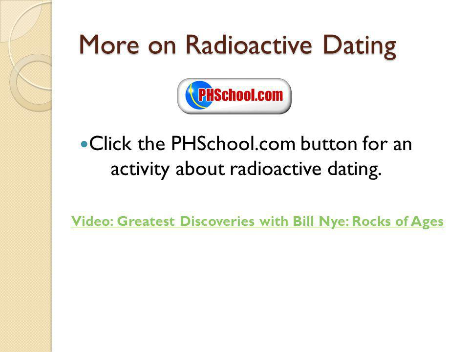 More on Radioactive Dating