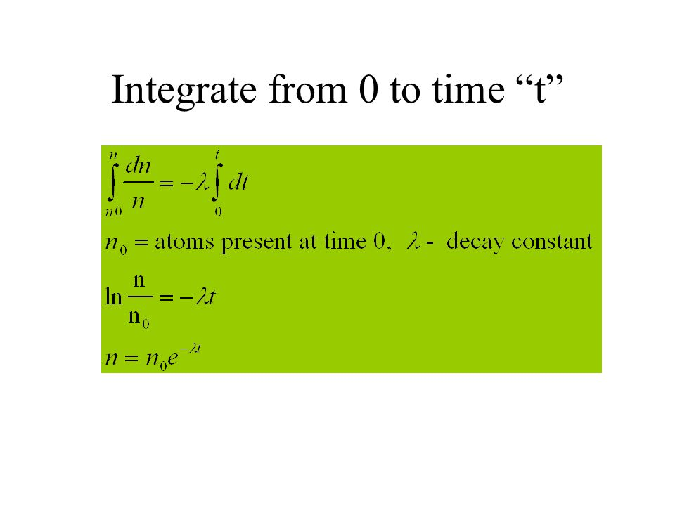 Integrate from 0 to time t