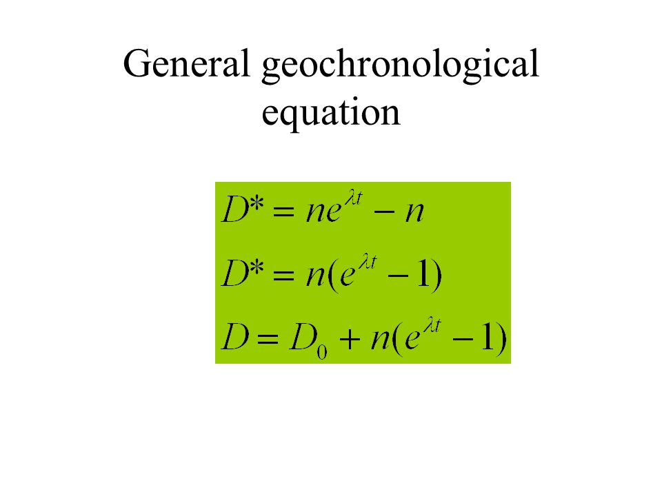 General geochronological equation