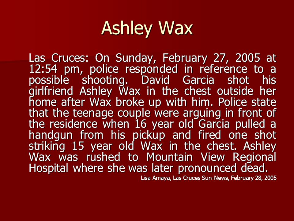 Ashley Wax