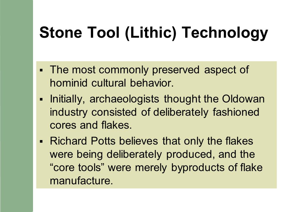 Stone Tool (Lithic) Technology