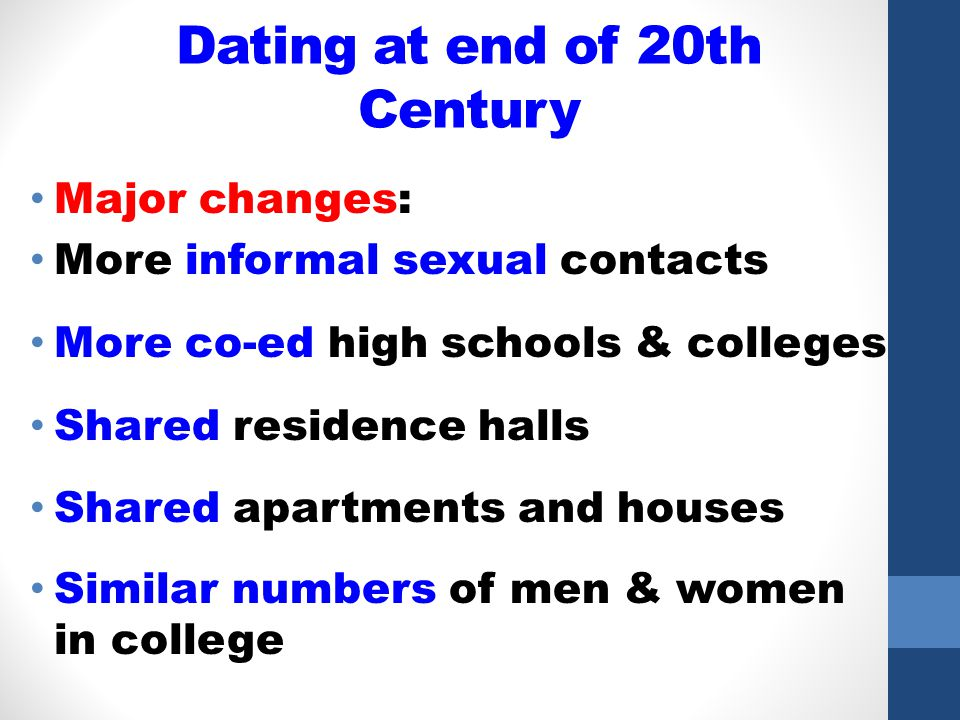 Dating at end of 20th Century