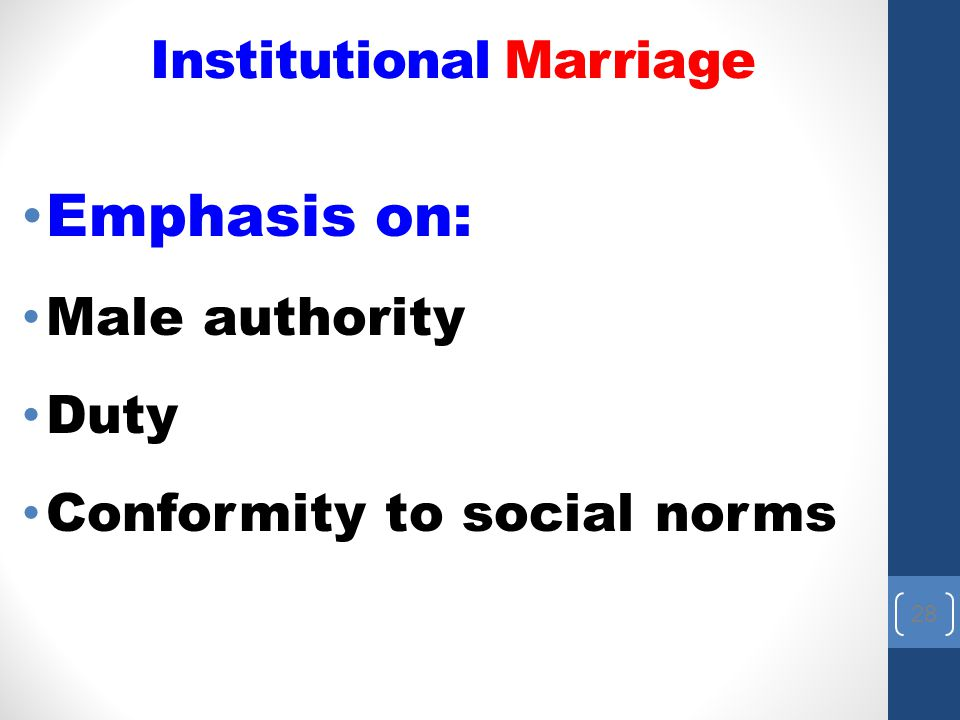 Institutional Marriage