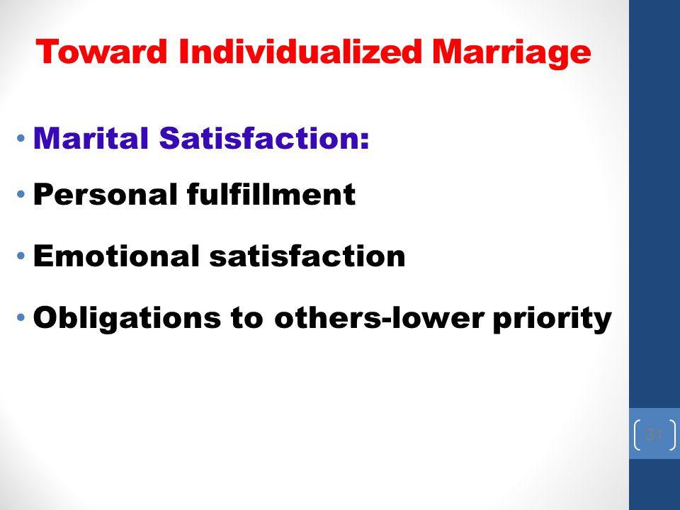 Toward Individualized Marriage