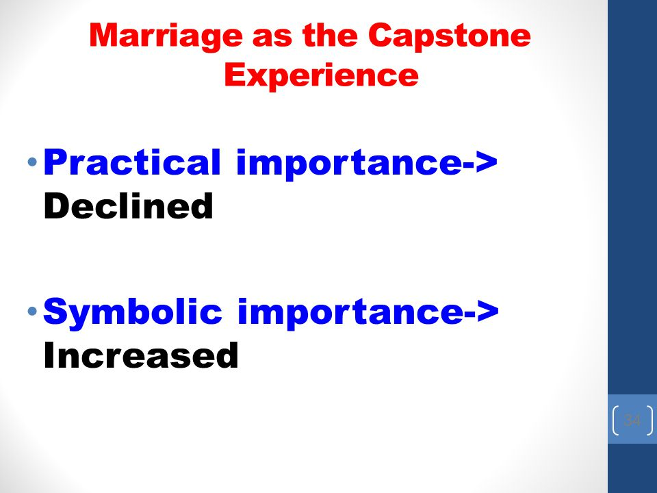 Marriage as the Capstone Experience
