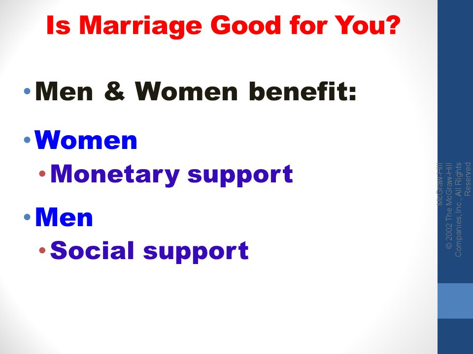 Is Marriage Good for You
