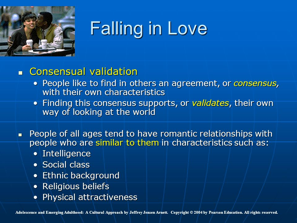 Falling in Love Consensual validation