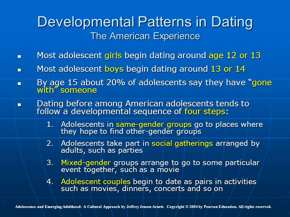 Developmental Patterns in Dating The American Experience