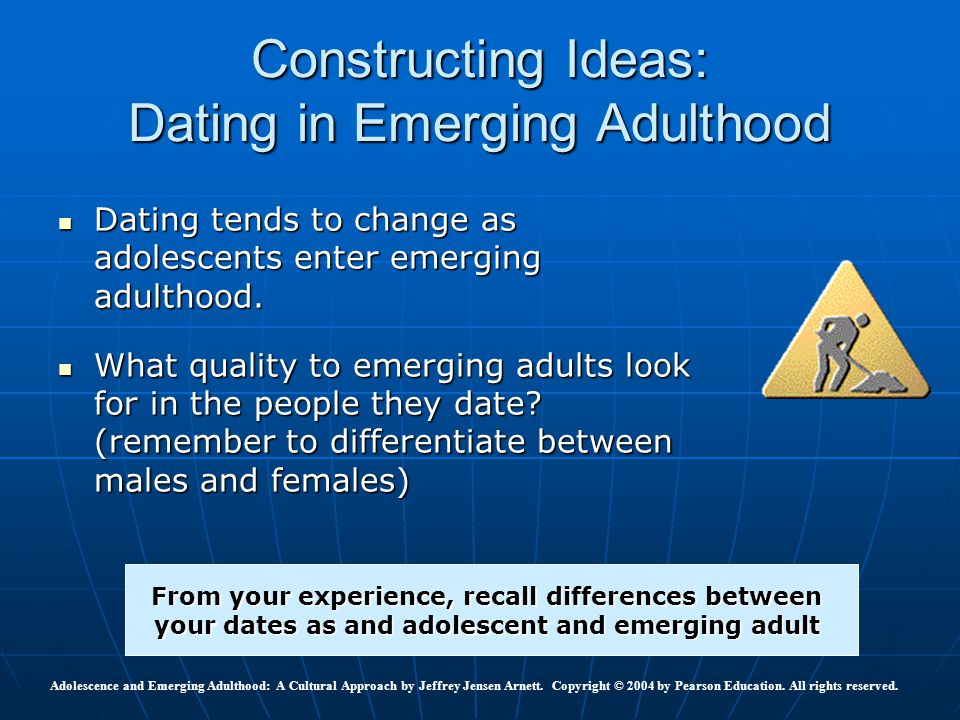 Constructing Ideas: Dating in Emerging Adulthood