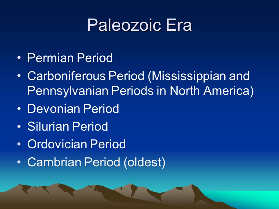 Paleozoic Era Permian Period