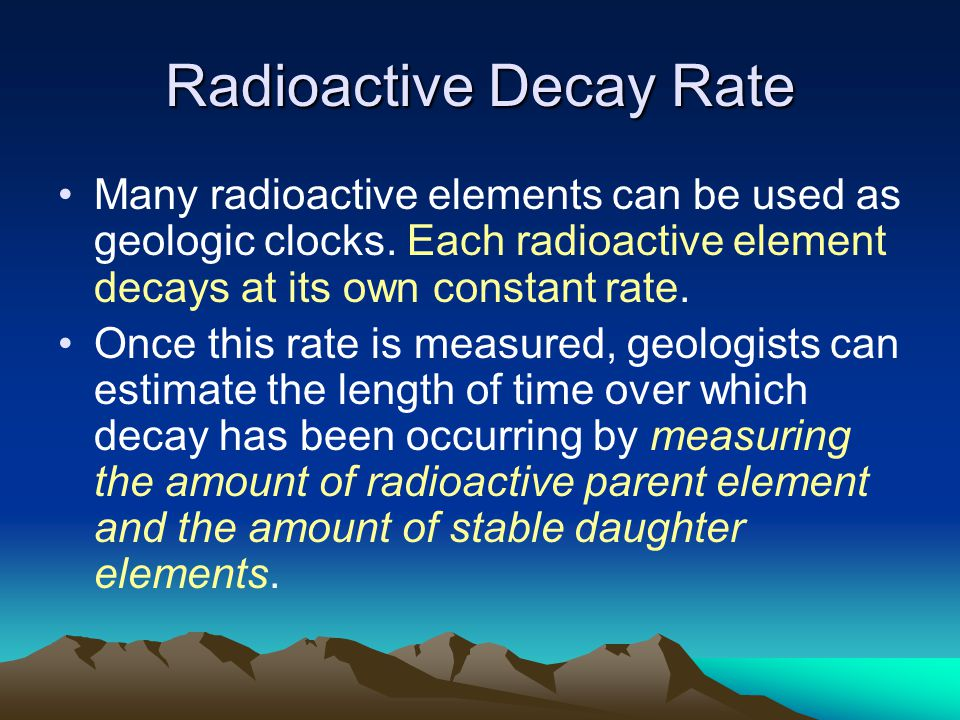 Radioactive Decay Rate