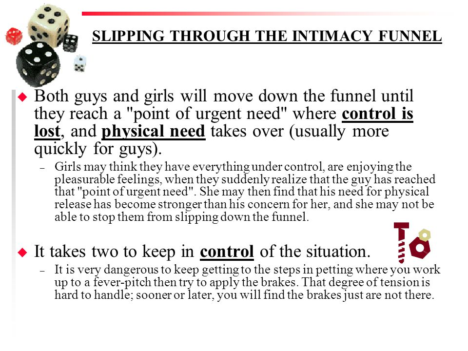 SLIPPING THROUGH THE INTIMACY FUNNEL