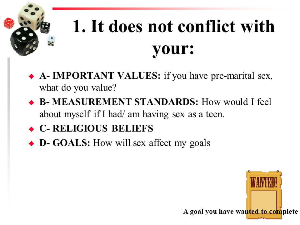 1. It does not conflict with your: