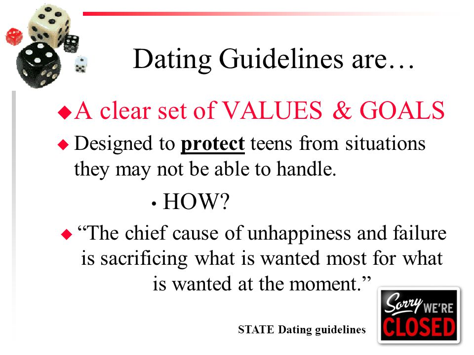 Dating Guidelines are…