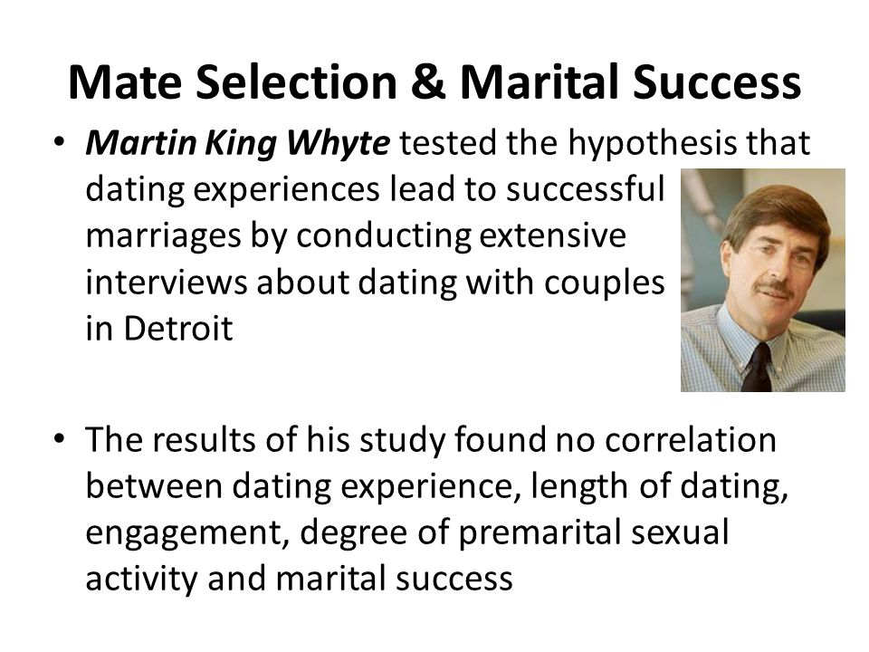 dating mating and marriage by martin king whyte
