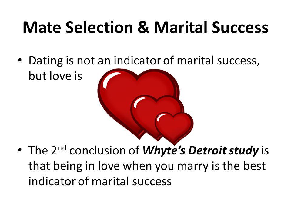 Mate Selection & Marital Success