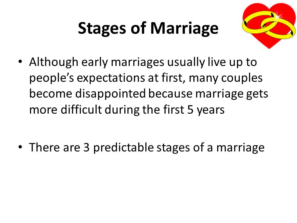 Stages of Marriage